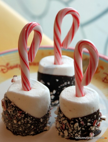Chocolate Dipped Marshmallow Candy Canes