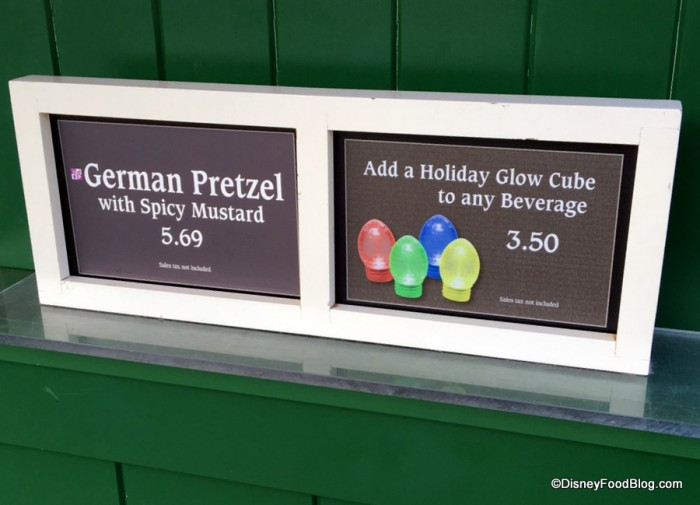 German Pretzel and Glow Cube signs