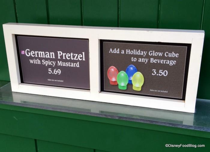 German Pretzel and Glow Cube signs