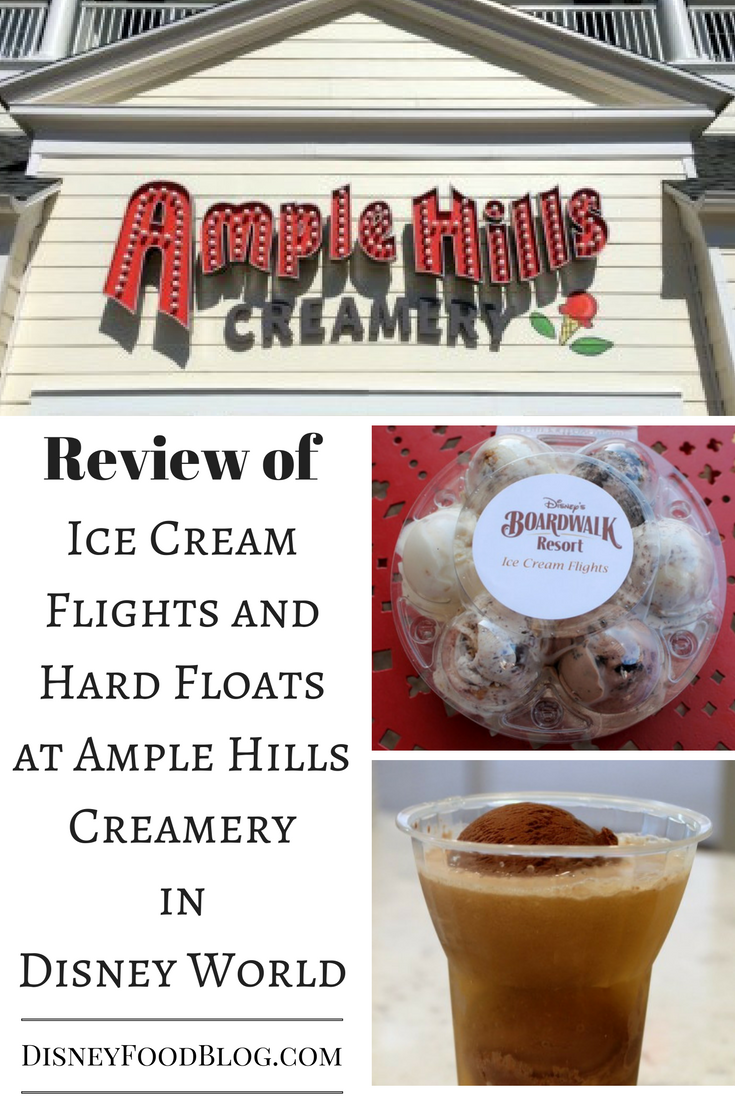 The DFB review of Ice Cream Flights and Hard Floats at Ample Hills Creamery in Disney World!