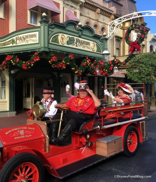 Main Street, U.S.A. Fire Chief, Mayor, and Suffragettes