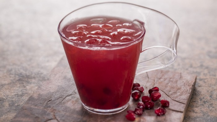 Pomegranate Mule featuring the Ginger People Ginger Beer and Van Gogh Vodka -- Painter's Palate Food Studio ©Disney
