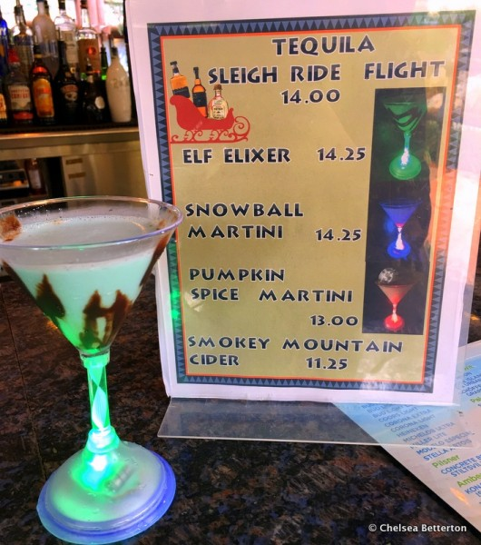 Elf Elixir and Other Holiday Drinks at Trout Pass Pool Bar