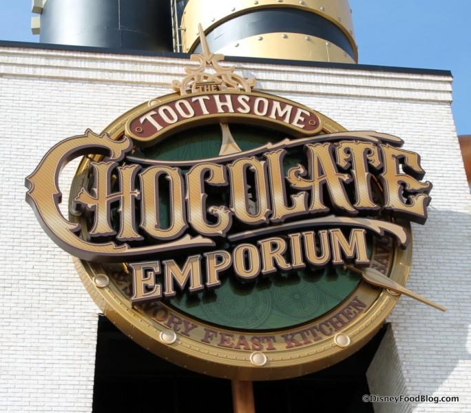 Toothsome Chocolate Emporium & Savory Feast Kitchen sign