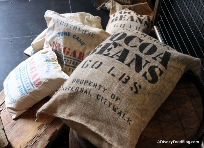 Bags of Cocoa Beans