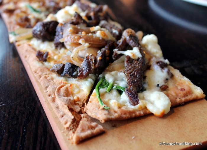 Blackened Steak and Blue Flatbread