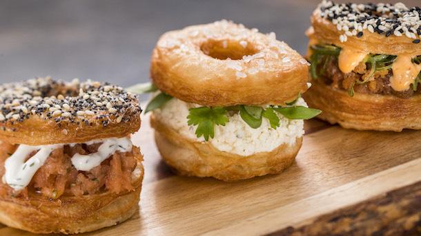Trio of Savory Croissant Doughnuts -- Painter's Palate Food Studio ©Disney