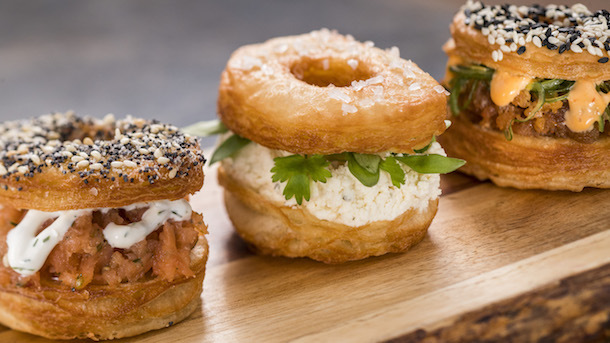 Trio of Savory Croissant Doughnuts -- Painter's Palate Food Studio ©Disney