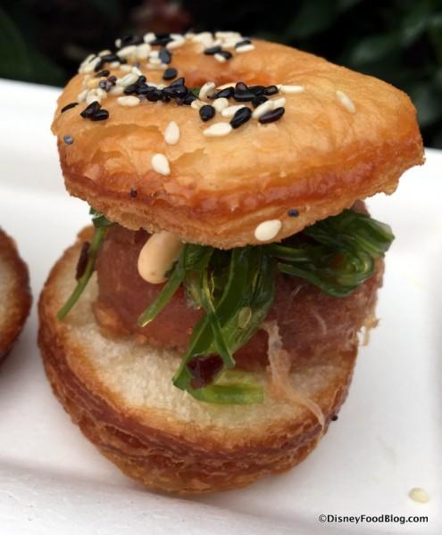 Trio of Savory Croissants -- Spicy Tuna