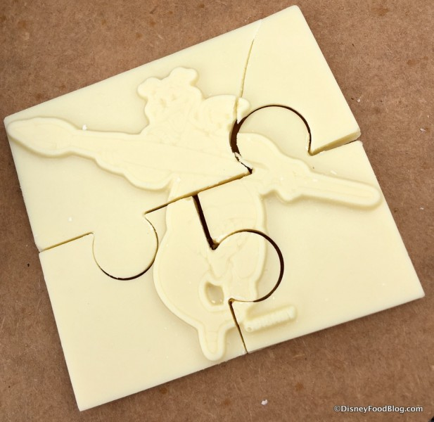 White Chocolate Figment Puzzle on an Artist Palette