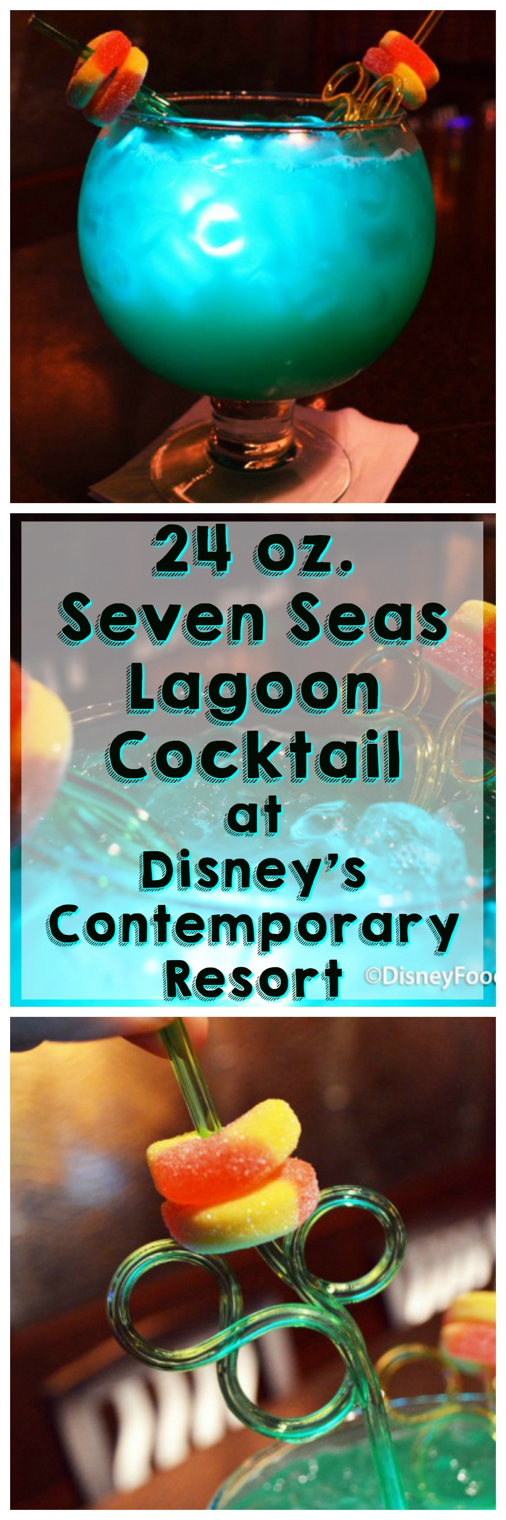 Read our review of the 24 oz. Seven Seas Lagoon Cocktail at Disney's Contemporary Resort!