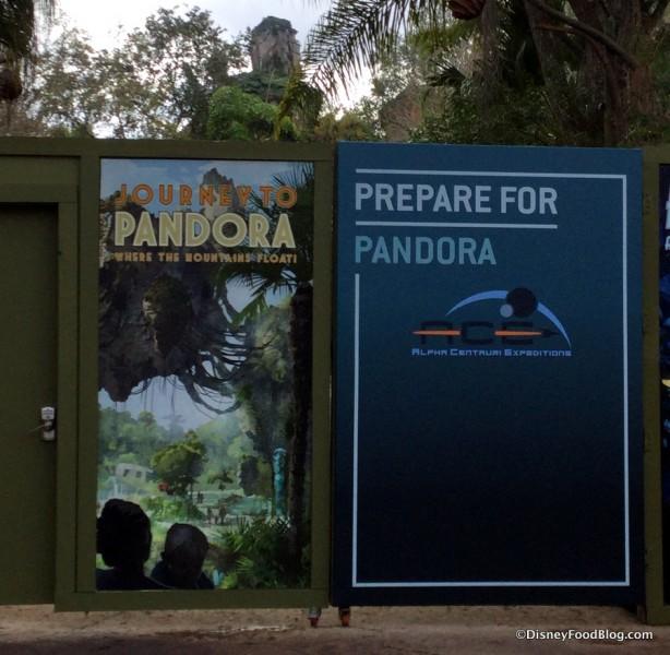 Pandora Construction signs