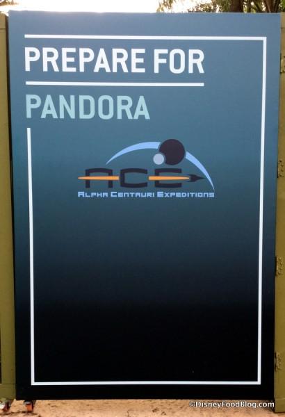 """Prepare for Pandora"" construction sign"