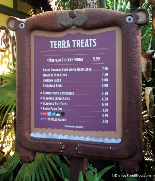 Terra Treats Menu