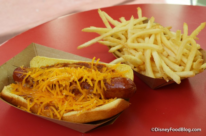 Chili Cheese Hot Dog with Fries
