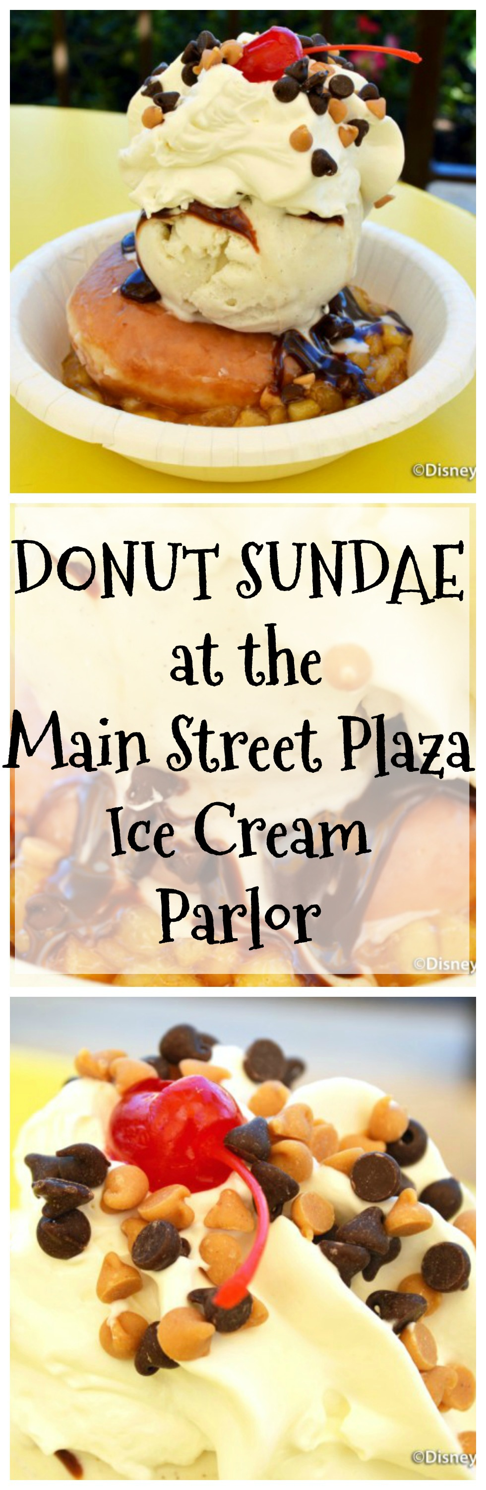 Read our review of the DONUT SUNDAE (!!!) at the Main Street Plaza Ice Cream Parlor!