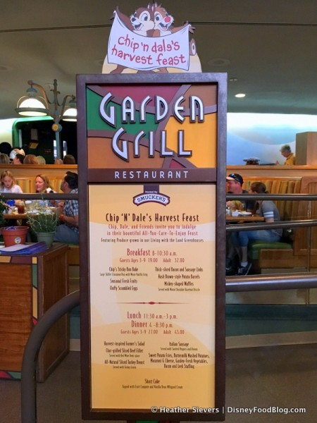 Review Chip N Dale S Harvest Feast Breakfast At Garden Grill Restaurant In Epcot The Disney