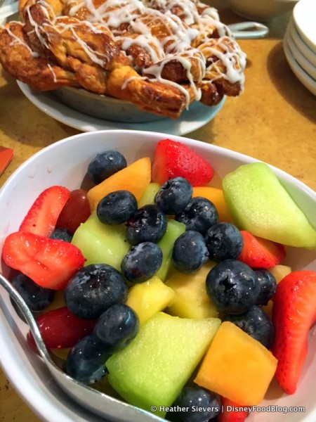 Fresh Fruit with Sticky Bun Bake