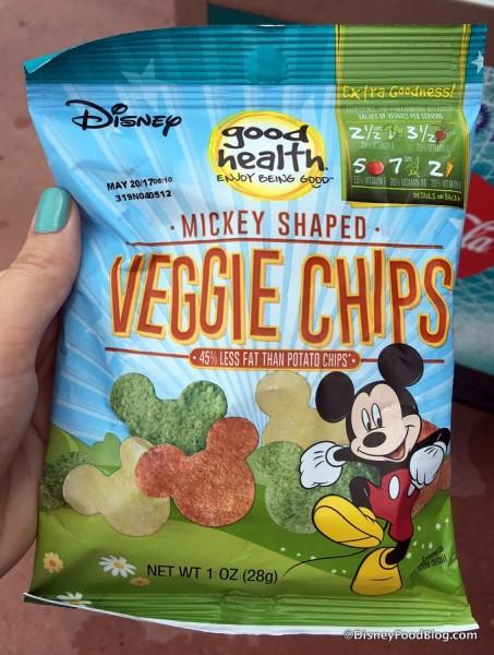 Mickey-shaped Veggie Chips