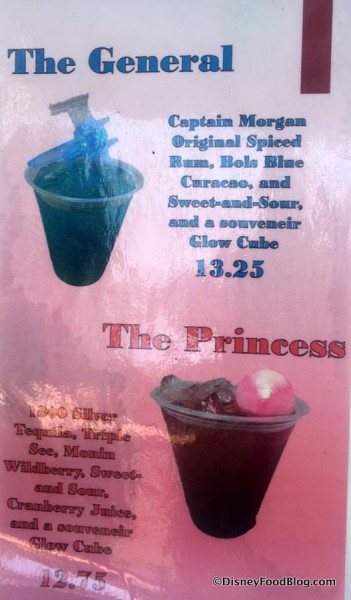 Star Wars Drinks Menu