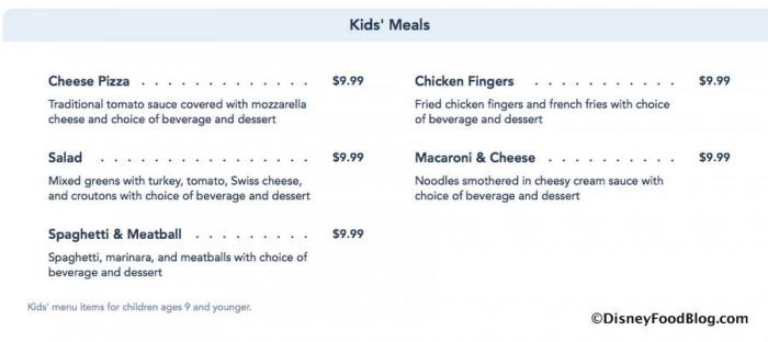 Screenshot via the Walt Disney World website