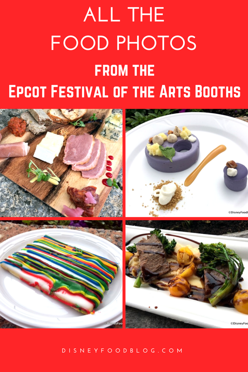 Take a look at ALL the food photos from the Epcot Festival of the Arts Booths!