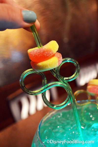 Mickey Straw and Gummy Rings