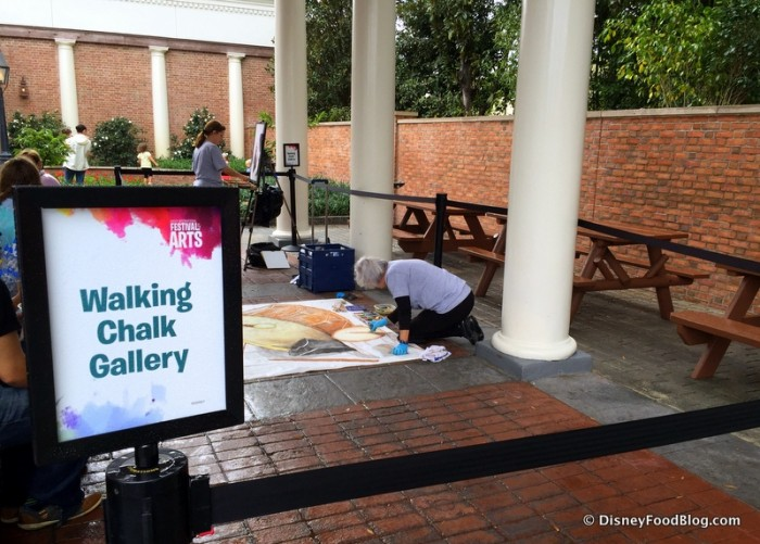 Walking Chalk Gallery at Epcot Festival of the Arts