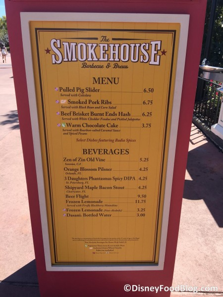 2017 Epcot Flower And Garden Festival The Smokehouse Barbecue And Brews The Disney Food Blog