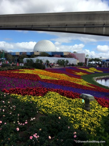 Epcot during the Flower and Garden Festival