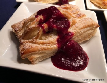 Warm Cheese Strudel with Mixed Berries