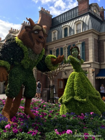 Beauty and the Beast Topiary