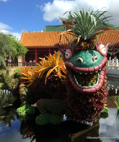 Bromeliad Dragon Topiary in Epcot's China