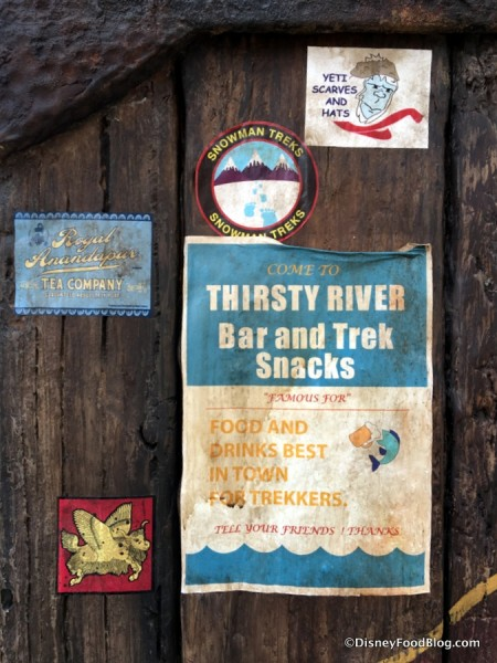 Thirsty River Bar sign in Rivers of Light Ampitheatre
