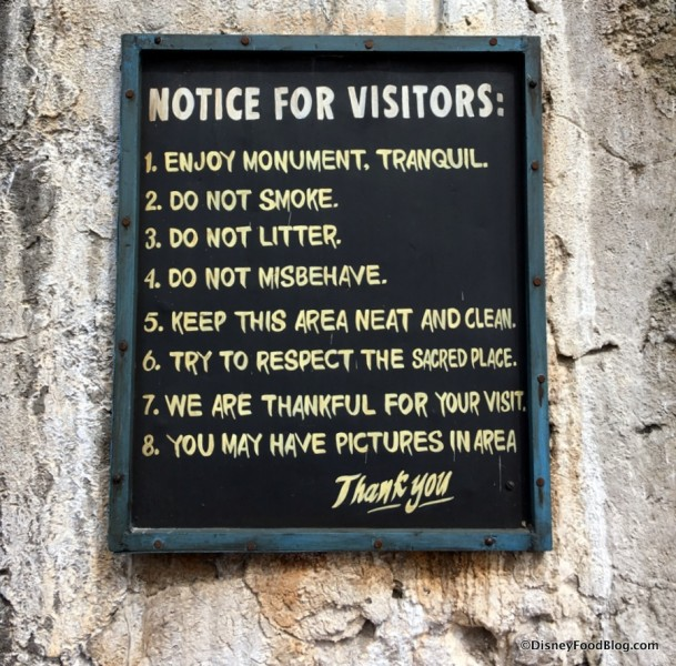 Notice for Visitors to the Ampitheatre