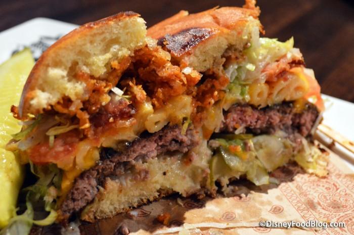 Bacon Mac N Cheese Burger -- Inside