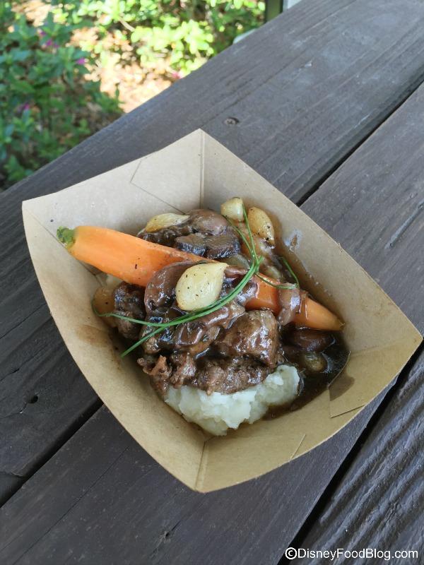 Beef Tenderloin Tips, Mushroom Bordelaise Sauce, Whipped Potatoes with Garden Vegetables