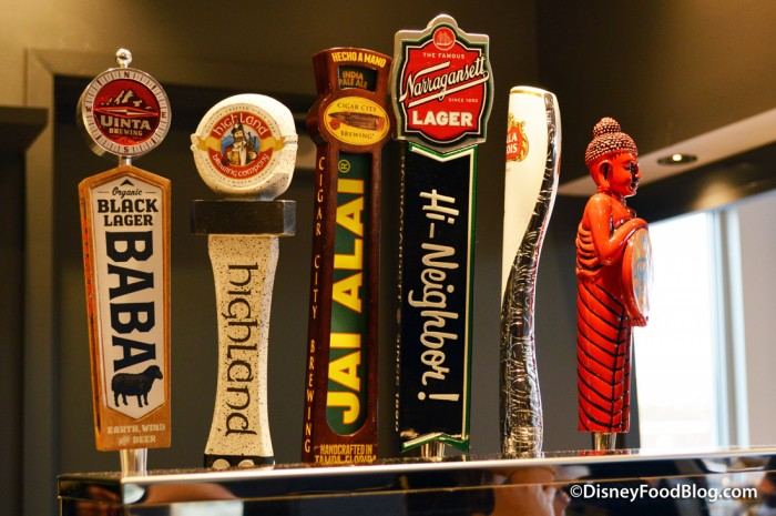 Beers on tap at Paddlefish