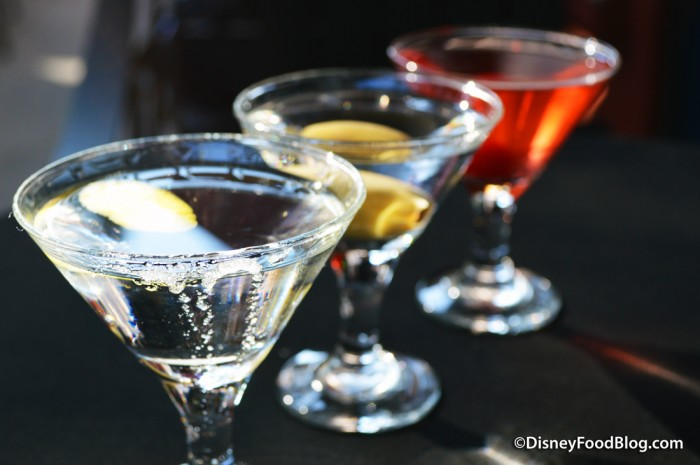 Brown Derby Lounge Martini Flight