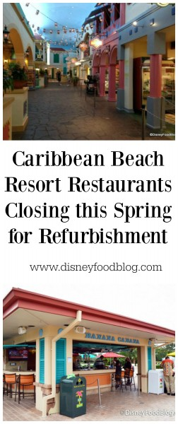 Caribbean Beach Resort Restaurants Closing this Spring for Refurbishment