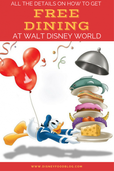 Check out all the details on how to get FREE DINING at Walt Disney World!