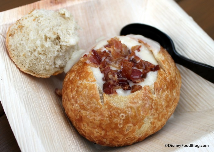 Yummy Soup in a Bread bowl has been a staple at the past two festivals