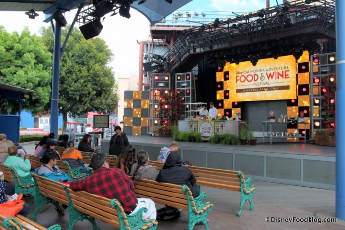 Outdoor Stage at the DCA Food and Wine Festival