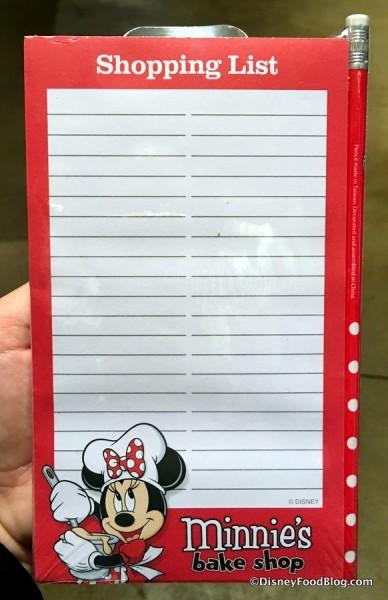 Minnie's Bake Shop Shopping List