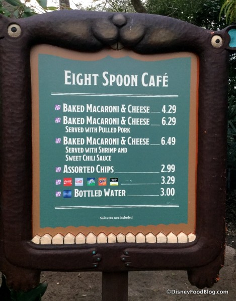 Eight Spoon Cafe Menu