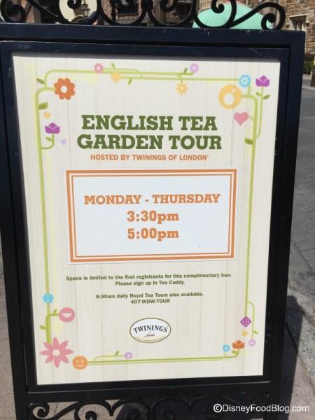 English Tea Garden Tour