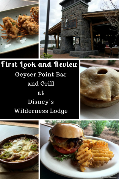 First Look and Review of Geyser Point Bar and Grill at Disney's Wilderness Lodge
