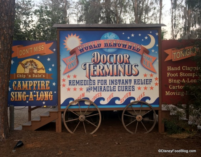 Chip and Dale's Campfire Sing-A-Long Area