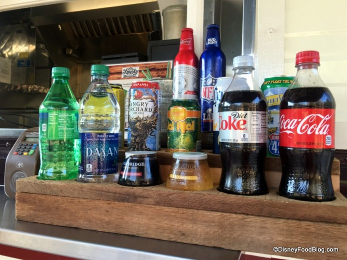 Beverages at the Chuck Wagon