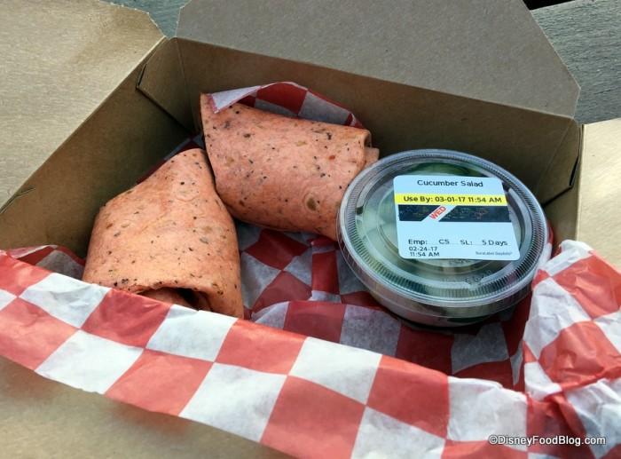 Roasted Portobello and Vegetable Wrap
